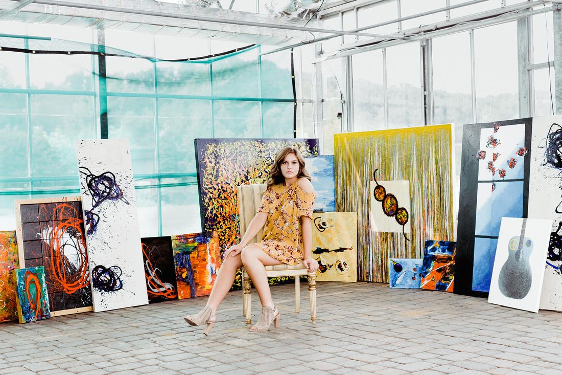Senior Emma H. at Rod Morris Art gallery